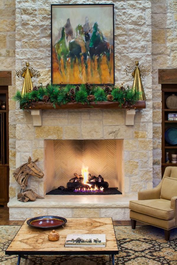 Deko schwebend regale Girlanden Weihnachten minimalistisch simpel