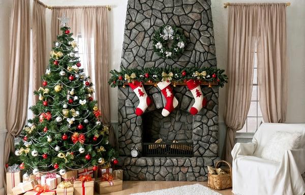 Girlanden zu Weihnachten tannenbaum dekoration