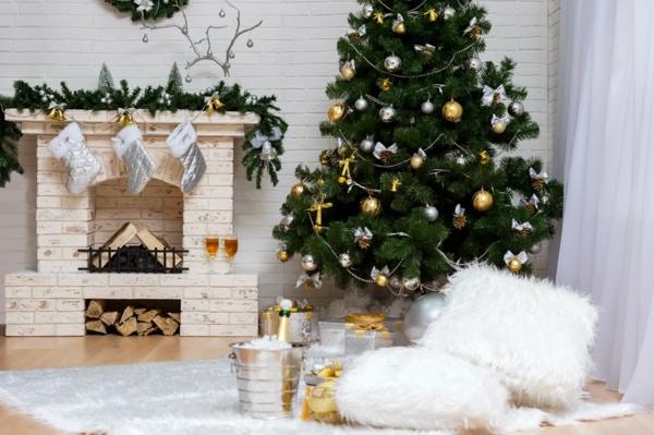 Deko Girlanden zu Weihnachten weiß weich