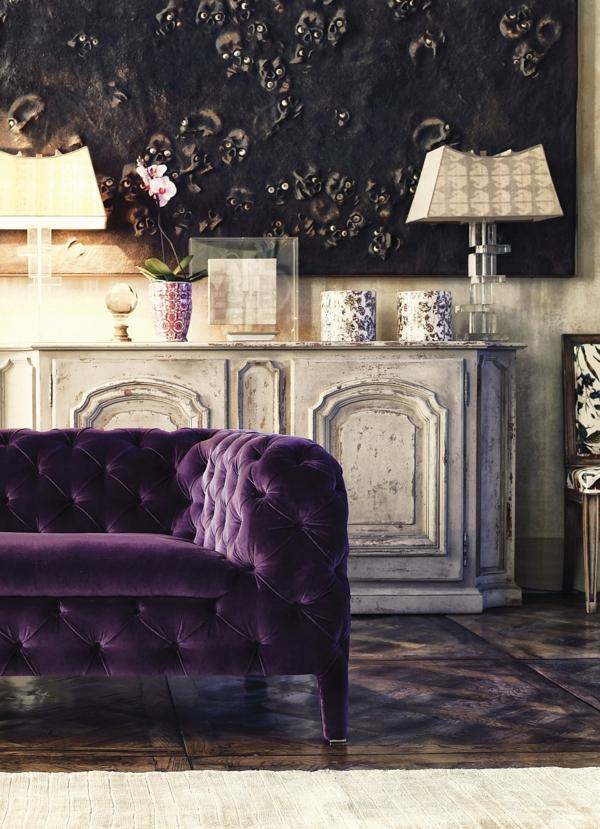 Ergonomische ideen Sitzmöbel antik design purpurrot