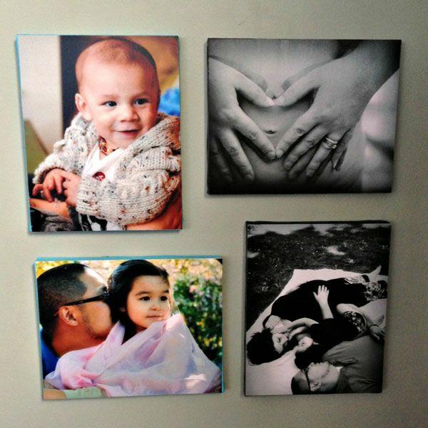 Fotos auf Leinwand selber machen fotocollage bunt
