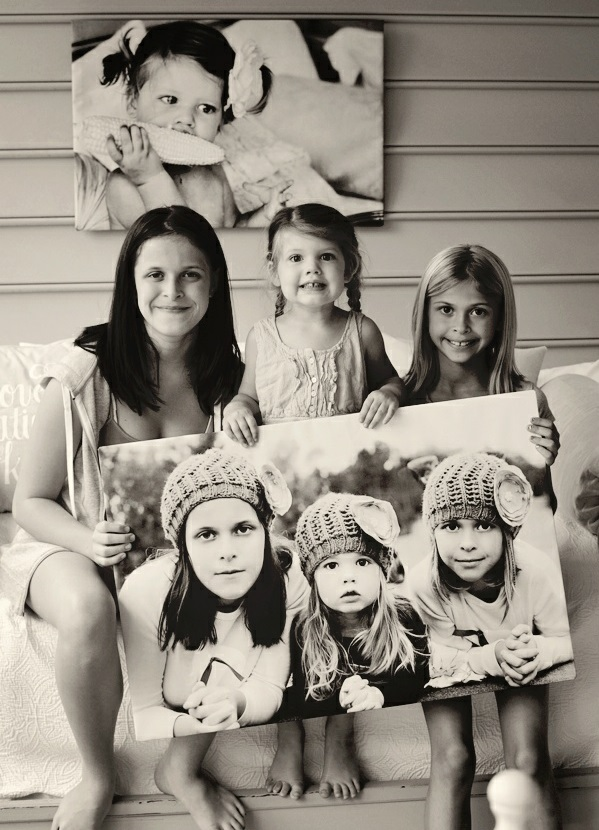 Fotos Leinwand selber machen fotocollage groß familie