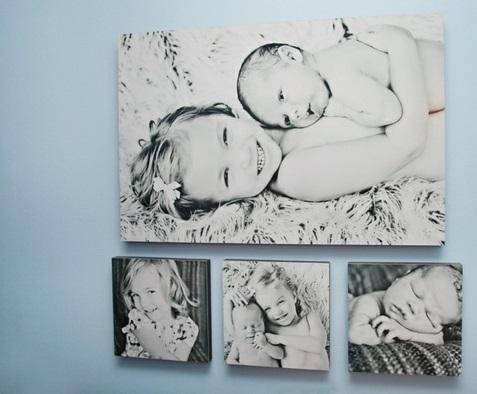 Fotos auf Leinwand selber machen fotocollage kinder