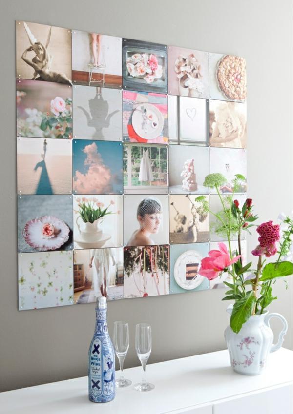 Fotos auf Leinwand selber machen fotocollage landhausstil