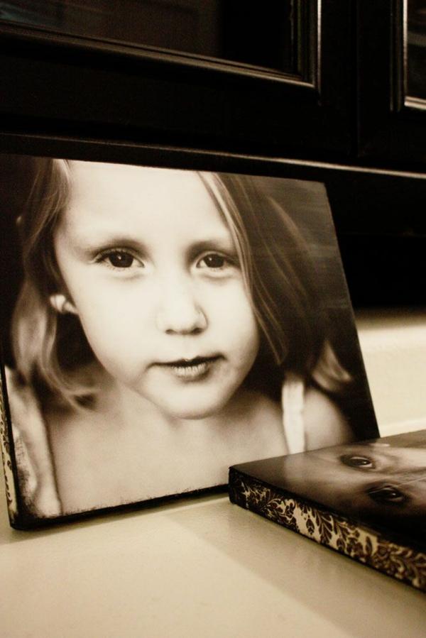 Fotos Leinwand selber machen fotocollage mädchen
