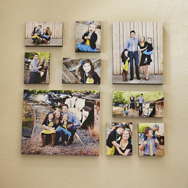 Fotos Leinwand selber machen fotocollage sammlung