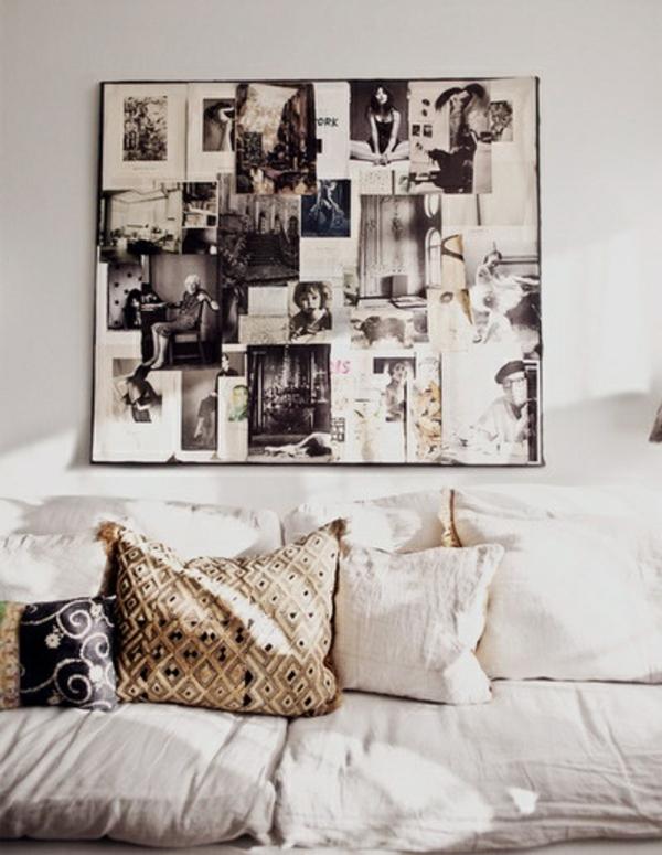Fotos auf Leinwand selber machen fotocollage vintage