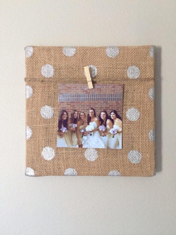 Fotos auf Leinwand selber machen fotocollage wäscheklammer