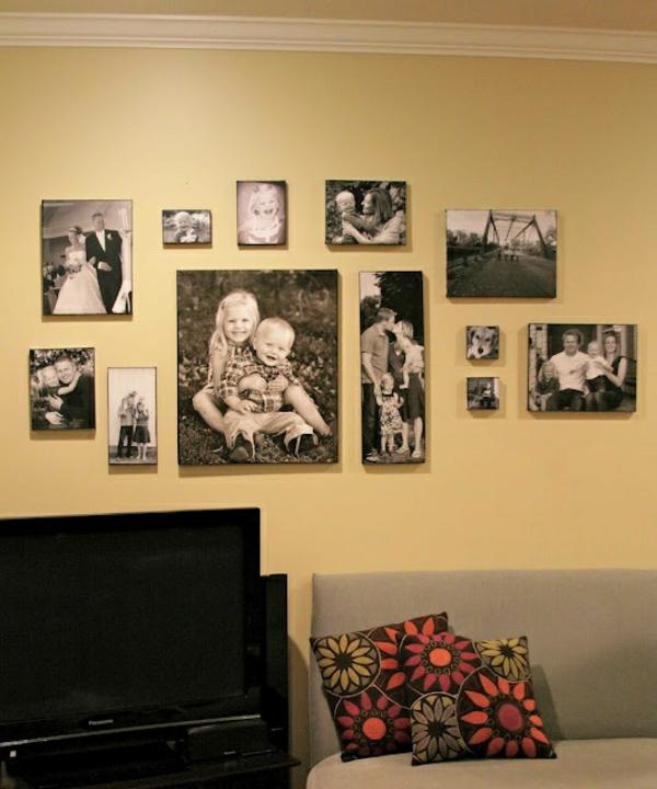 Fotos Leinwand selber machen fotocollage wohnen