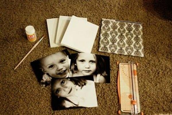 Fotos auf Leinwand selber machen materialien