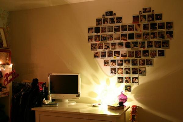 100 fotocollagen erstellen fotos auf leinwand selber machen - Fotowand herz ...