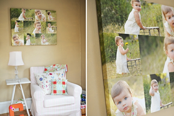 Fotos auf Leinwand selber machen sessel tischlampe