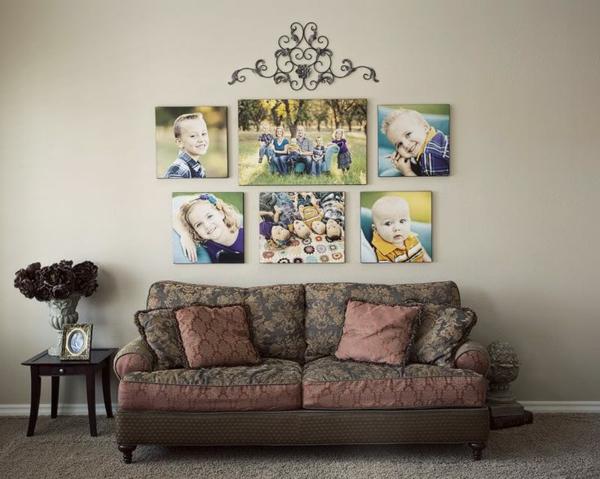 Fotos auf Leinwand selber machen sofa