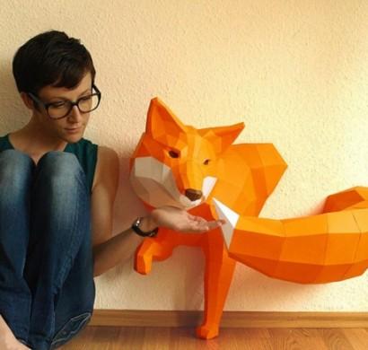 Geometrische tierfiguren aus papier von wolfram kampffmeyer - Geometrische deko ...