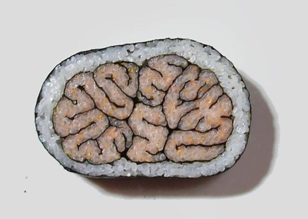 Gerissene design Sushi Arten gehirn