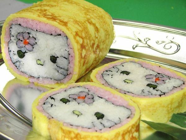 Gerissene toll tiere Sushi selbst machen Arten hallo kitty