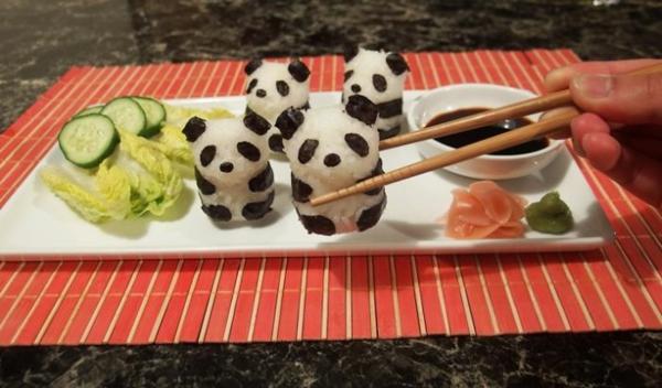 Gerissene Sushi schön Arten körper panda