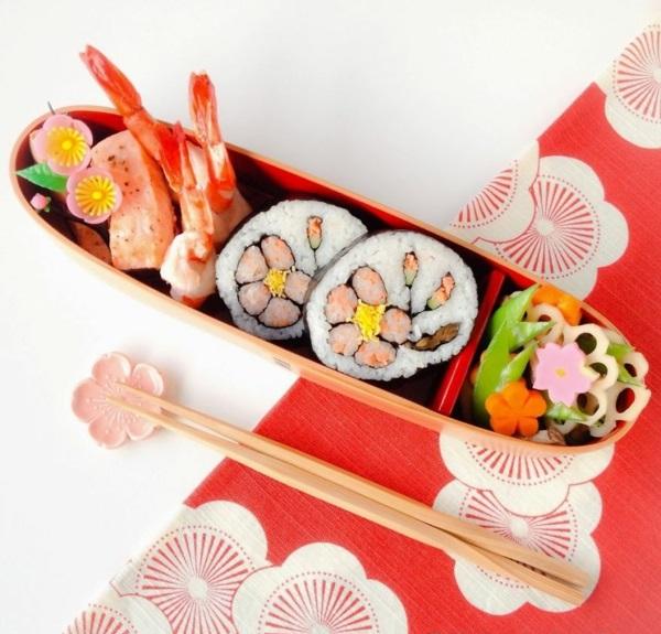 Gerissene Sushi  platte Arten kombiniert