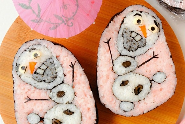 Gerissene Sushi schneemann Arten olaf