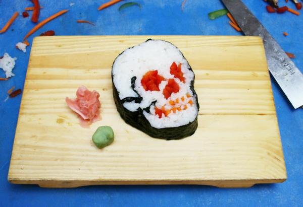 Gerissene Sushi sushi selbst machen Arten schädel