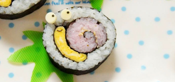 sushi selbst machen arten schnecke lachen