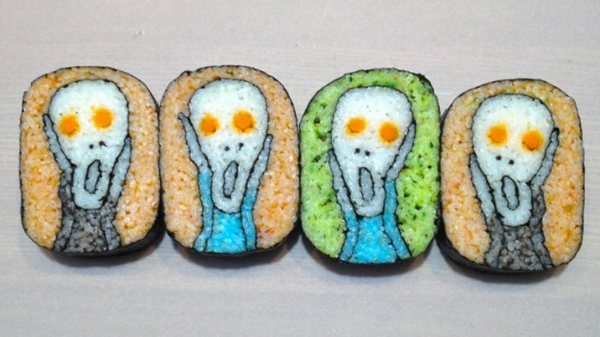 Gerissene Sushi selbst machen Arten scream kunst