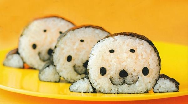 Gerissene Sushi selbst machen Arten seehunde