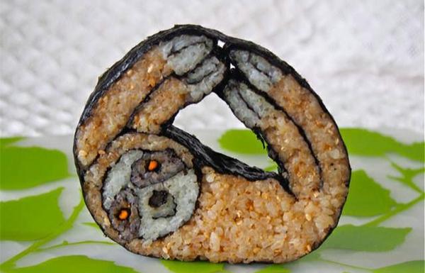 Gerissene Sushi yoga betreiben Arten tiere dschungel