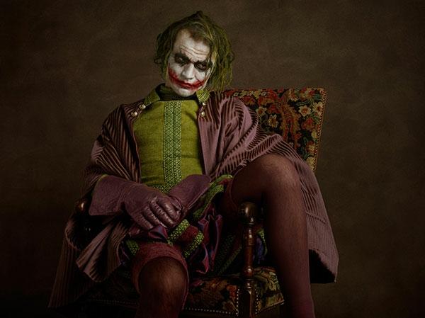 Helden Bösewichte als flämische Porträtgemälde batman