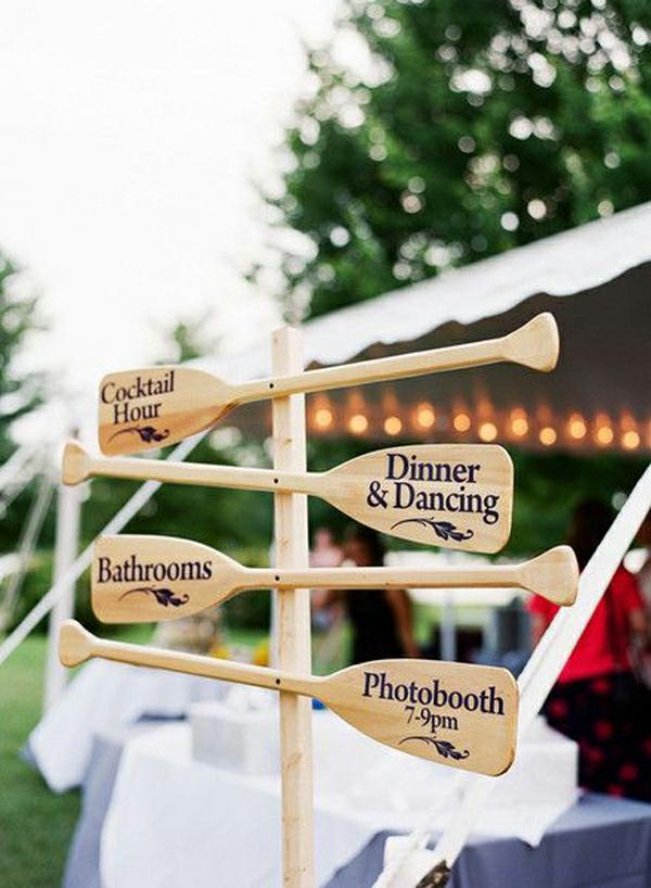 Hochzeitsfeier Ideen hochzeitsdeko selber machen angeln