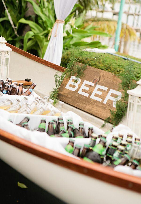 Hochzeitsfeier bier Ideen hochzeitsdeko selber machen getränke