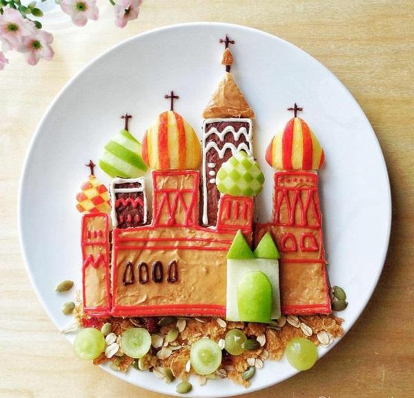 Essen Dekoration leckeres essen anrichten und dekorieren einer begabten mutter