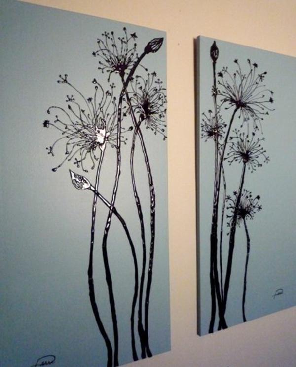 Leinwandbilder selber gestalten diy floral