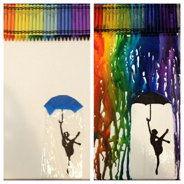 Leinwandbilder selber gestalten diy glück regen