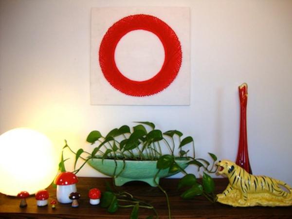 Leinwand bilder selber gestalten diy rot ring