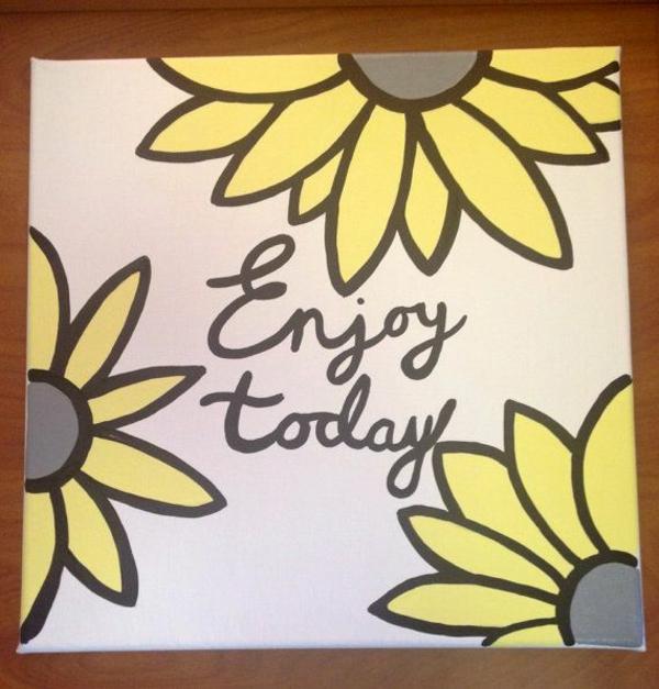Leinwandbilder selber gestalten diy sonnenblumen