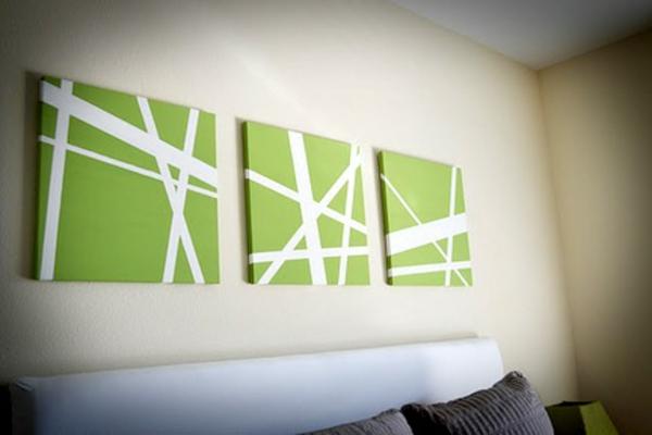 Leinwandbilder selber gestalten diy wohnzimmerwand