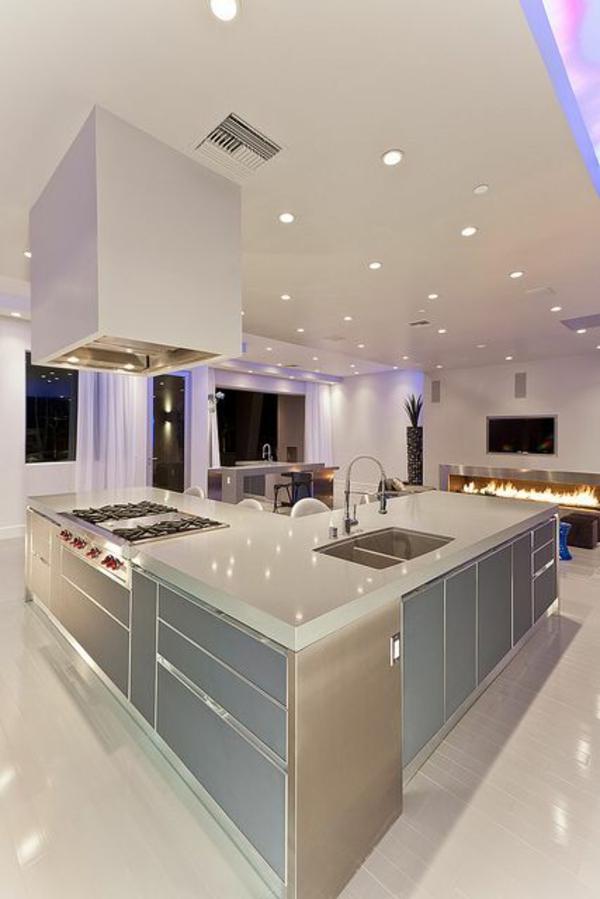 Kochinsel küchenblock Moderne Küchen freistehend beleuchtung