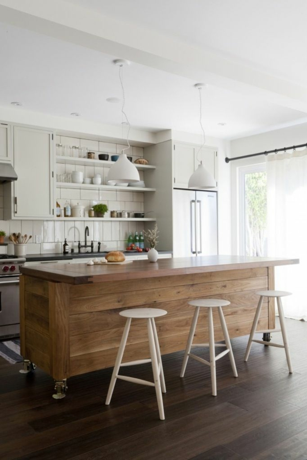 Kochinsel küchenblock freistehend hocker ohne rückenlehne