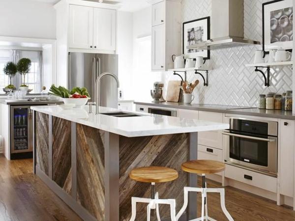 Moderne Küchen texturenKochinsel küchenblock freistehend holz
