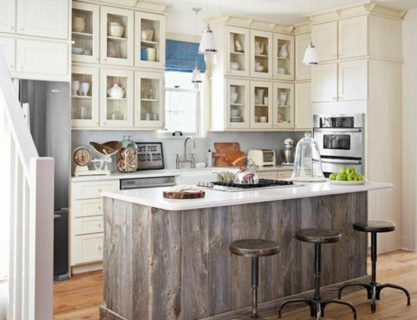 90 moderne Küchen mit Kochinsel ausgestattet | {Küchenblock freistehend rustikal 24}