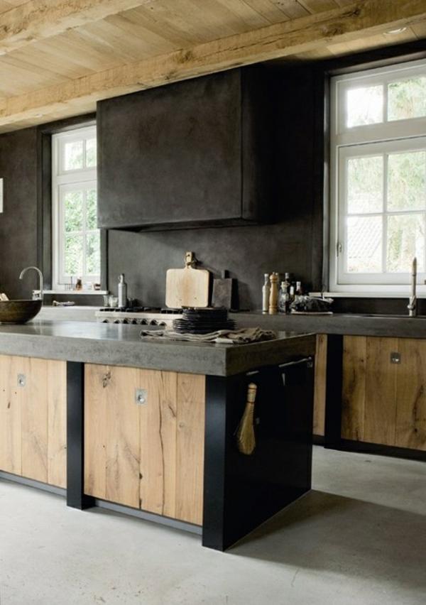 moderne kchen kchenblock freistehend natur - Kochinsel Design