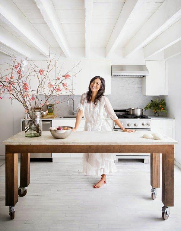Küchen Kochinsel küchenblock freistehend rollen