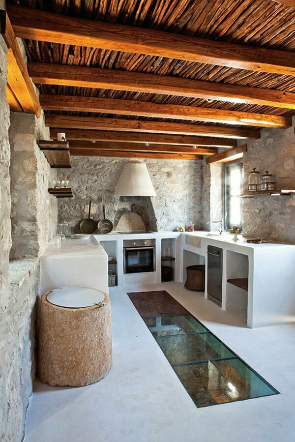 Moderne Küchen kochinsel maße balken