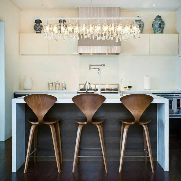 Moderne küchenmit Kochinsel kochinsel maße hocker