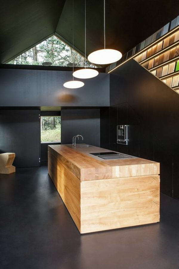Moderne küchen mit kochinsel holz  90 moderne Küchen mit Kochinsel ausgestattet