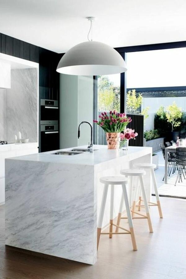 Moderne Küchen Kochinsel kochinsel maße marmor