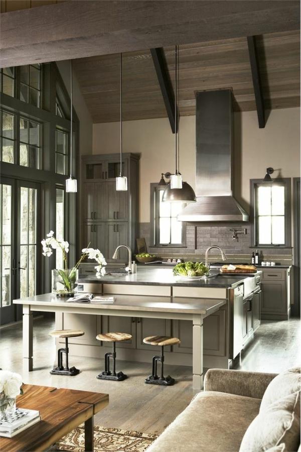 Moderne Küchen mit Kochinsel kochinsel maße pendelleuchten