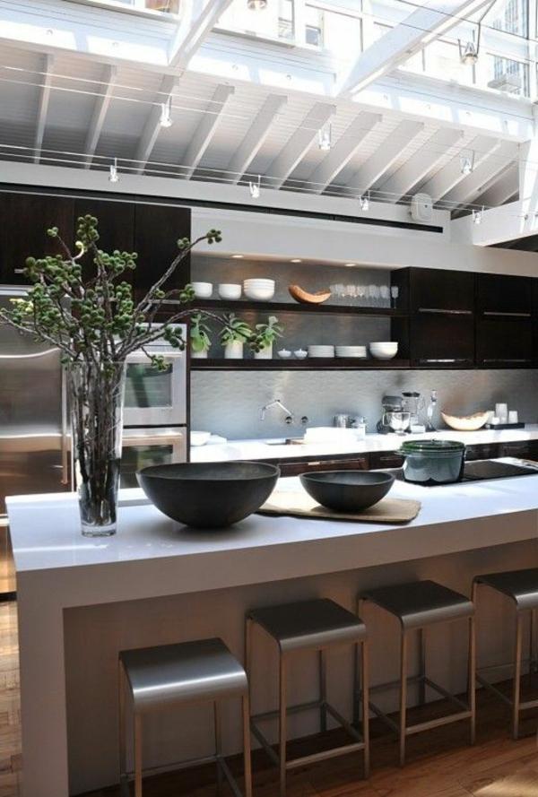 90 moderne Küchen mit Kochinsel ausgestattet | {Moderne einbauküchen mit kochinsel 46}