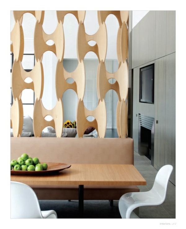 Raumteiler Ideen Holz design raumteiler höhle